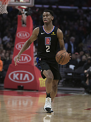 March 8, 2019 - Los Angeles, California, United States of America - Shai Gilgeous-Alexander #2 of the Los Angeles Clippers during their NBA game with the Oklahoma Thunder on Friday March 8, 2019 at the Staples Center in Los Angeles, California. Clippers defeat Thunder, 118-110.  JAVIER ROJAS/PI (Credit Image: © Prensa Internacional via ZUMA Wire)