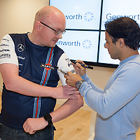 Liam Haugh from Ennis getting his jersey signed by Formula One Driver Felipe Massa