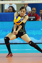 Japan Arisa Sato receives a ball