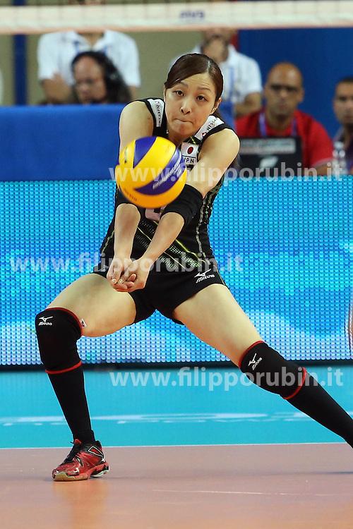 Japan Arisa Sato receives a ball