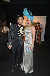 Musician HOSSEIN TOHI  and HOFIT GOLAN at The Animal Ball presented by Elephant Family held at Victoria House, Bloomsbury Square, London on 22nd November 2016.