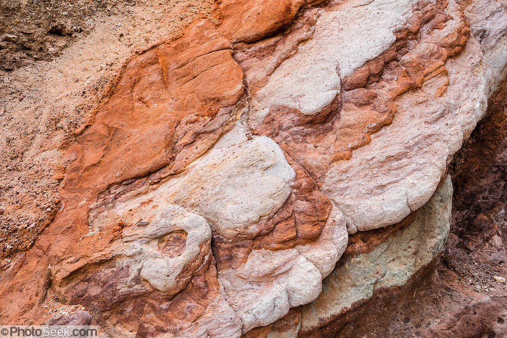 Orange rock patterns in Death Valley National Park, California, USA.