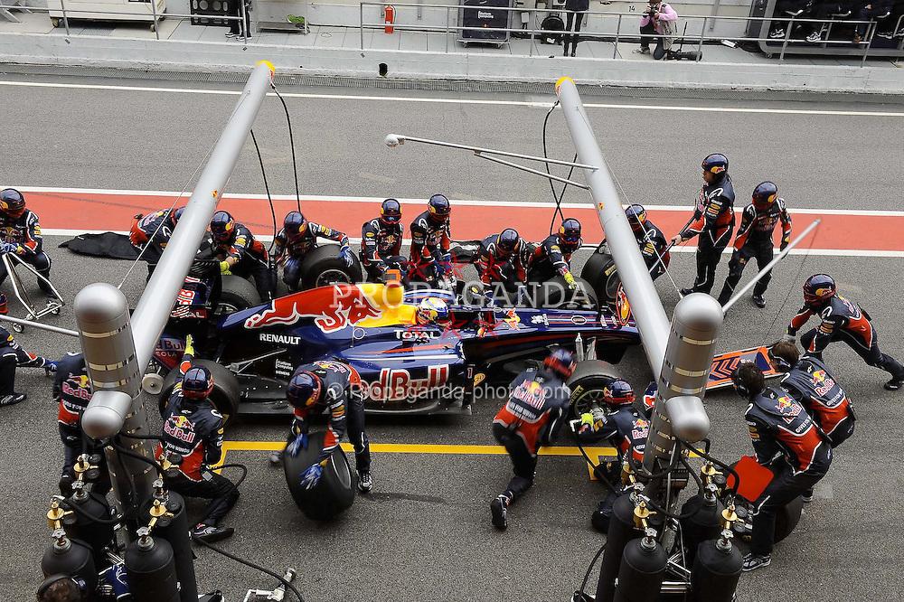 19.02.2011, Circuit de Catalunya, Barcelona, ESP, Formel 1 Test 3 2011,  im Bild  Sebastian Vettel (GER), Red Bull Racing EXPA Pictures © 2011, PhotoCredit: EXPA/ nph/  Dieter Mathis       ****** out of GER / SWE / CRO  / BEL ******