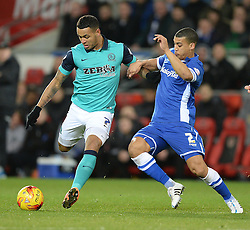 Cardiff City's Lee Peltier battles for the ball with Blackburn Rovers's Joshua King - Photo mandatory by-line: Alex James/JMP - Mobile: 07966 386802 - 17/02/2015 - SPORT - Football - Cardiff - Cardiff City Stadium - Cardiff City v Blackburn Rovers - Sky Bet Championship