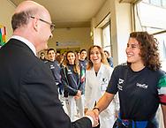 Domitilla Picozzi<br /> Visita Sette Rosa Ospedale Policlinico Universitario Agostino Gemelli<br /> Photo Pasquale Mesiano/ Deepbluemedia /Insidefoto