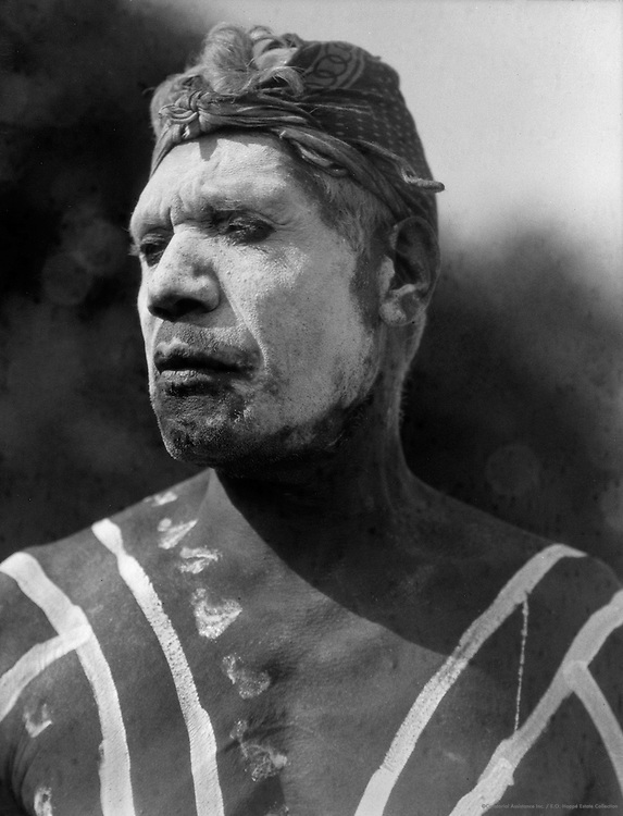 Aborigine Painted in Ceremonial Design, Central Australia, 1930