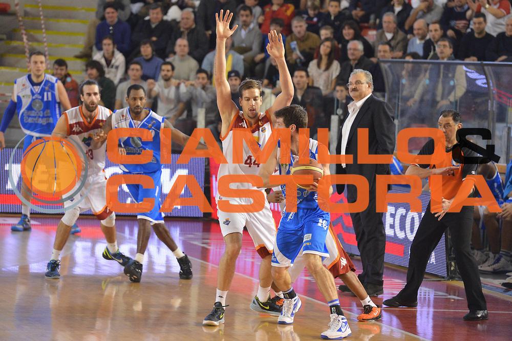DESCRIZIONE : Roma Lega A 2012-13 Acea Roma Banco di Sardegna Sassari<br /> GIOCATORE : Peter Lorant Phil Goss<br /> CATEGORIA : difesa controcampo<br /> SQUADRA : Acea Roma<br /> EVENTO : Campionato Lega A 2012-2013 <br /> GARA : Acea Roma Banco di Sardegna Sassari<br /> DATA : 23/12/2012<br /> SPORT : Pallacanestro <br /> AUTORE : Agenzia Ciamillo-Castoria/GiulioCiamillo<br /> Galleria : Lega Basket A 2012-2013  <br /> Fotonotizia :  Roma Lega A 2012-13 Acea Roma Banco di Sardegna Sassari<br /> Predefinita :