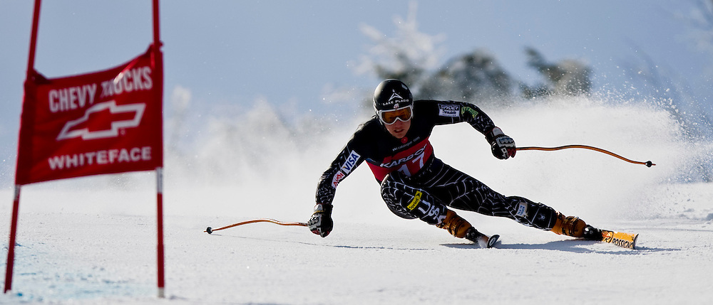 US Ski Team Member from Lake Placid, Andrew Weibrecht, skis Tuesday, Mar. 11 during the Men's Super G competition at the Nor-Am Championships at Whiteface Mountain.   (Photo/Todd Bissonette-www.rtbphoto.com)