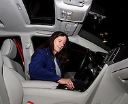 """Brenda Emmons of Springfiled checks out a 2011 Toyota Venza during the Dayton Women's Fair at the Airport Expo Center in Vandalia., Saturday, September 17, 2011. She says she made the trip to be able to """"experience the first Dayton Women's Fair.""""  How did she like it?  """"I loved it.  It's wonderful."""""""