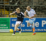 Dundee's Ian Smith and Forfar's Iain Campbell - Forfar Athletic v Dundee, Martyn Fotheringham testimonial at Station Park, Forfar.Photo: David Young<br /> <br />  - &copy; David Young - www.davidyoungphoto.co.uk - email: davidyoungphoto@gmail.com