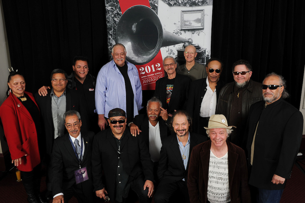 The Herbs, recipients of the Hall Of Fame Award, at the APRA Silver Scrolls Awards 2012. Auckland Town Hall. 13 September 2012.