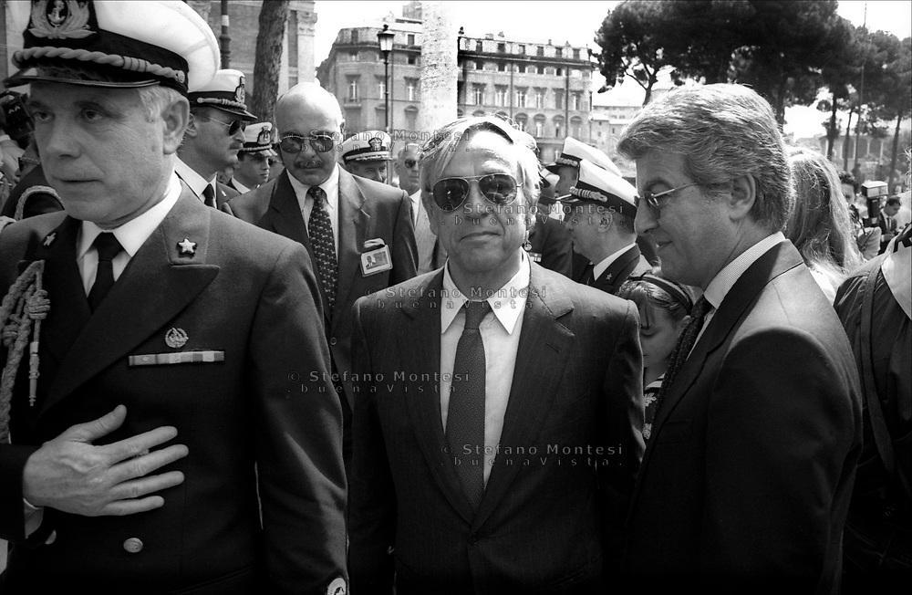 Roma  4  Giugno 1994.Cesare Previti, Ministro della Difesa del Governo Berlusconi