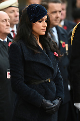 © Licensed to London News Pictures. 07/11/2019. London, UK. The Duchess of Sussex attends the 91st Field of Remembrance at Westminster Abbey. The Field of Remembrance has been organised by The Poppy Factory and held in the grounds of Westminster Abbey since November 1928. Photo credit: Ray Tang/LNP