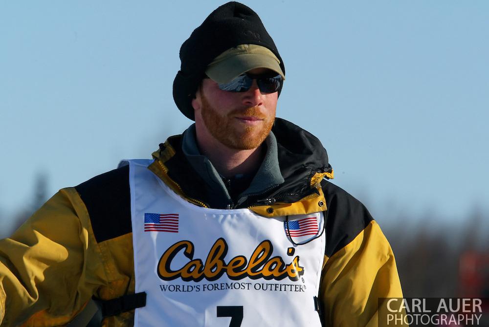 3/4/2007:  Willow, Alaska -  Veteran Zack Steer of Sheep Mountain, AK during the 35th Iditarod Sled Dog Race