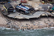 The remains of Funtown Pier go kart track  caused by Hurricane Sandy.