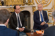 Paris: Francois Hollande Meets members of associations committted to peace in Syria, 14 Oct. 2016