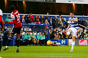 Rangers Defender Geoff Cameron SHOOTS during the EFL Sky Bet Championship match between Queens Park Rangers and Brentford at the Loftus Road Stadium, London, England on 10 November 2018.