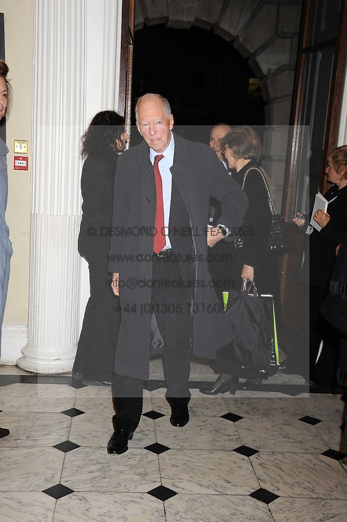 LORD ROTHSCHILD at the opening of the Royal Academy of Arts Byzantium 330-1453 exhibition held at the RA, Burlington House, Piccadilly, London on 21st October 2008.