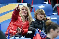 ISABELLE CAMUS compagne de  YANNICK NOAH  - 11.04.2015 -  Bastia / PSG - Finale de la Coupe de la Ligue 2015<br />Photo : Visual / Icon Sport