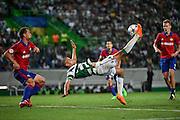 LISBOA, PORTUGAL, 18 DE AGOSTO 2015 - UEFA CHAMPIONS LEAGUE - SPORTING X CSKA - jogador Islam Slimani durante o jogo do Play-Off da UEFA Champions League, em Lisboa, Portugal. (Foto: Bruno de Carvalho - Brazil Photo Press)