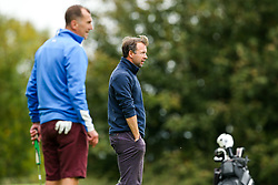 Marcus Stewart joins Lancer Scott as they take part in the Annual Bristol Rovers Golf Day - Rogan/JMP - 09/10/2017 - GOLF - Farrington Park - Bristol, England - Bristol Rovers Golf Day.
