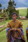 Coca leaf ceremony, Misminay village, Sacred Valley, Cusco Region, Urubamba Province, Machupicchu District, Peru