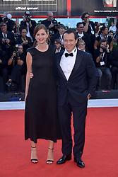 Bianca Vitali, Stefano Accorsi attending the Vox Lux premiere during the 75th Venice Film Festival
