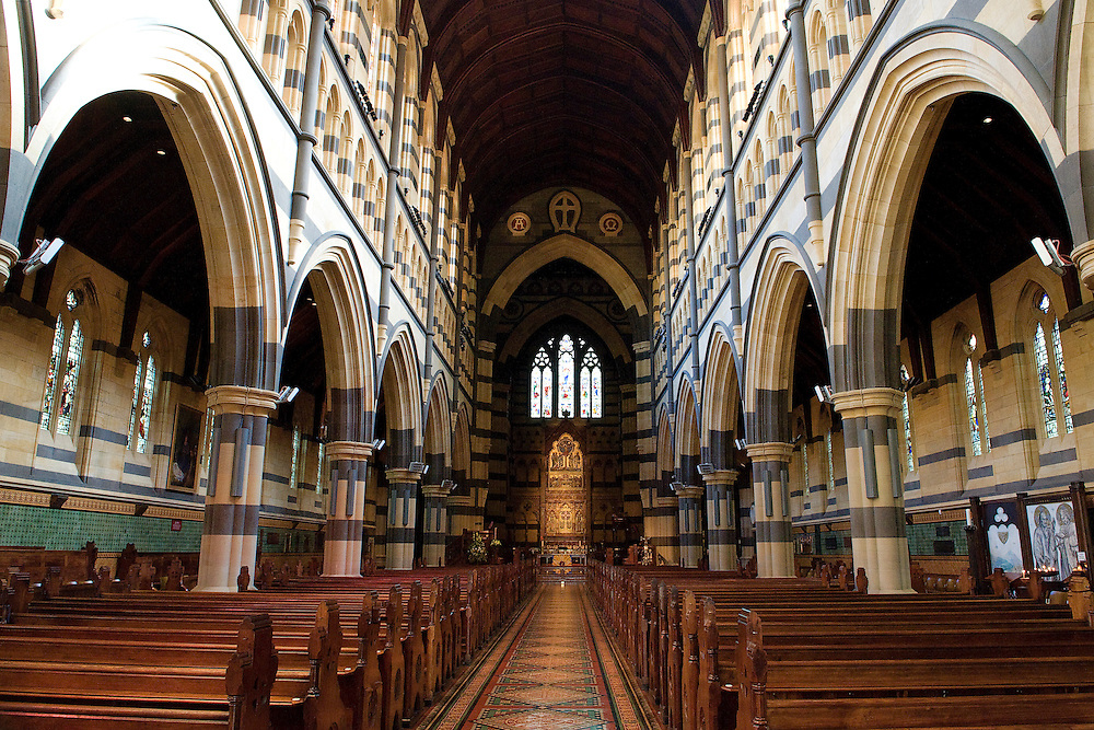 Interior of St Pauls Cathedral in Melbourne City of Australia