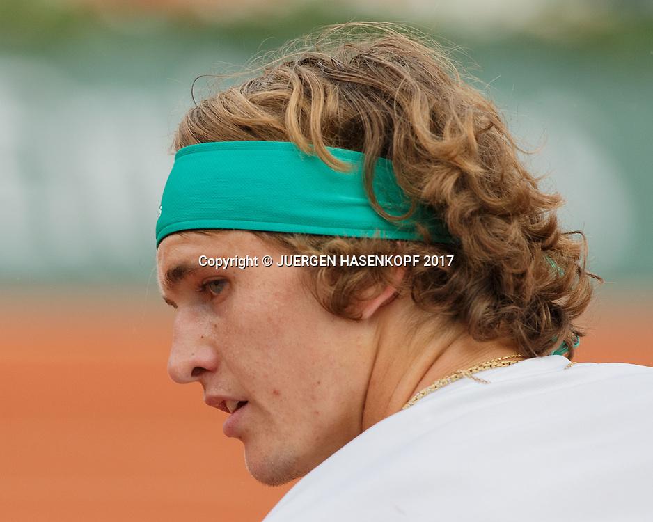 ALEXANDER ZVEREV (GER)<br /> <br /> Tennis - French Open 2017 - Grand Slam ATP / WTA -  Roland Garros - Paris -  - France  - 29 May 2017.