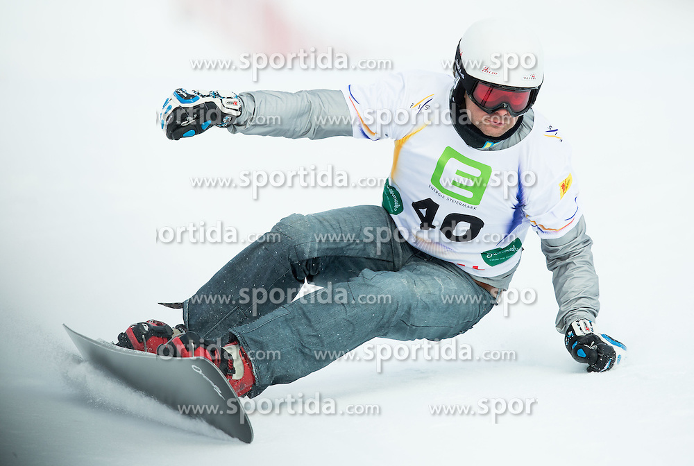 Rok Flander of Slovenia competes during Elimination of the Men's Parallel Giant Slalom at FIS World Championships of Snowboard and Freestyle 2015, on January 23, 2015 at the WM Piste in Lachtal, Austria. Photo by Vid Ponikvar / Sportida