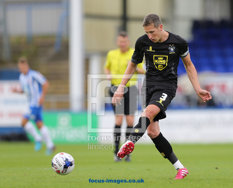 Jim McNulty of Bury during the Sky Bet League 2 match at Victoria Park, Hartlepool<br /> Picture by Simon Moore/Focus Images Ltd 07807 671782<br /> 16/08/2014