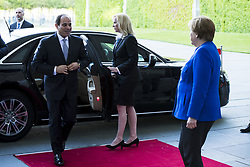 June 12, 2017 - Berlin, Germany - German Chancellor Angela Merkel greets Egyptian President Abdel Fattah al-Sisi as he arrives at the Chancellery in Berlin, Germany on June 12, 2017. Germany is holding today and tomorrow the G20 Africa Conference. (Credit Image: © Emmanuele Contini/NurPhoto via ZUMA Press)
