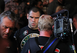 Las Vegas, NV - December 29, 2012: Challenger Cain Velasquez walks to the octagon for his bout against UFC Heavyweight Champion Junior Dos Santos at UFC 155 at MGM Grand Garden Arena in Las Vegas, Nevada.