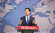 Ed Miliband speech on Britain&rsquo;s international role and responsibilities at Chatham House, London, Great Britain <br /> 24th April 2015 <br /> <br /> Ed Miliband <br /> Leader of the Labour Party <br /> General Election 2015 <br /> <br /> Photograph by Elliott Franks <br /> Image licensed to Elliott Franks Photography Services