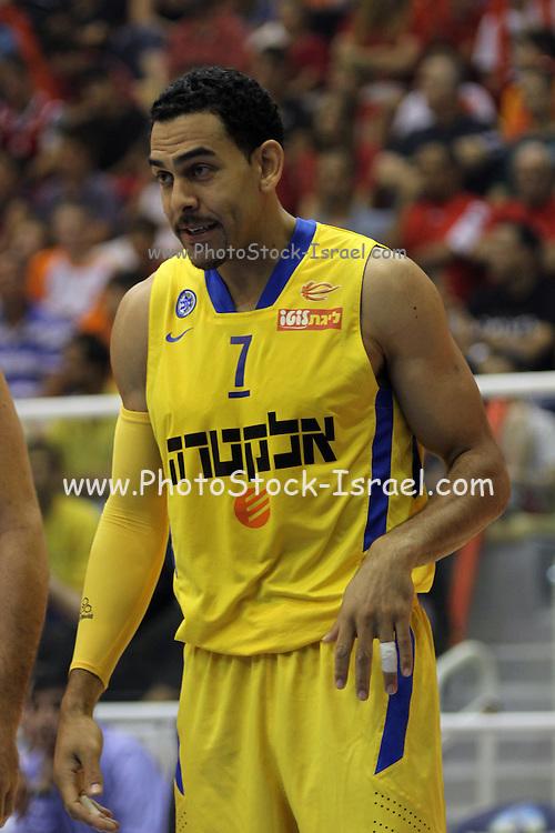 Maccabi Tel Aviv Basketball team (Yellow) Playing Hapoel Gilboa-Galil (Red) on October 16th 2011. Final result Maccabi 95 Hapoel 60 David Blu
