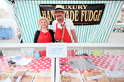 UK ENGLAND BOSTON 7SEP16 - Fudge sellers Chris (71) & Eileen Hook (69) of Spalding at their stall in Boston town centre.<br /> <br /> jre/Photo by Jiri Rezac<br /> <br /> © Jiri Rezac 2016