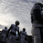 Yale players on the sideline during the Harvard Vs Yale, College Football, Ivy League deciding game, Harvard Stadium, Boston, Massachusetts, USA. 22nd November 2014. Photo Tim Clayton