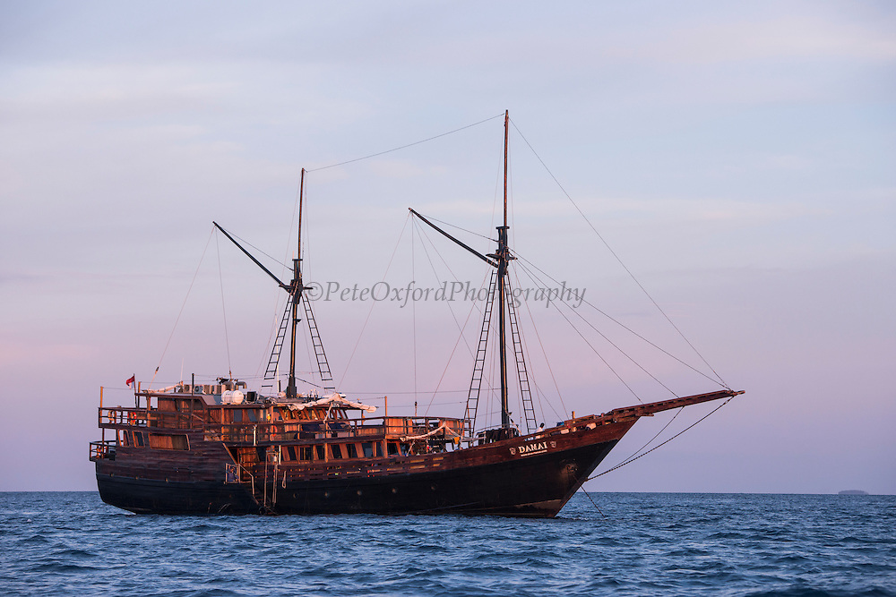 Damai 2<br /> Dive vessel<br /> Cenderawasih Bay<br /> West Papua<br /> Indonesia