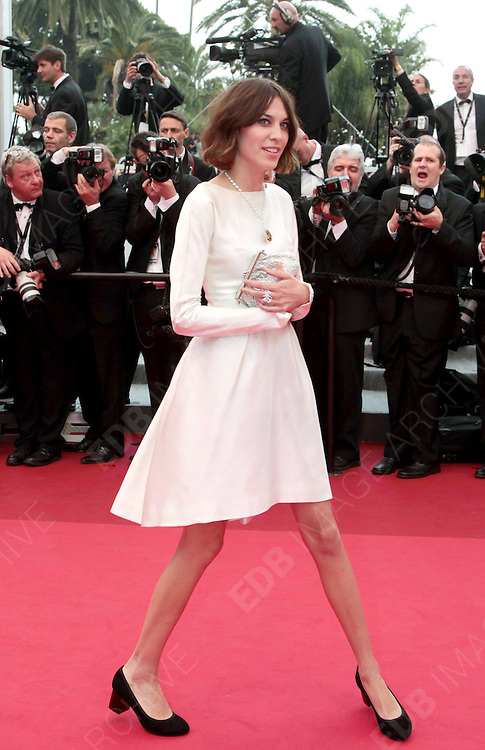 12.MAY.2011. CANNES<br /> <br /> ALEXA CHUNG ARRIVING ON THE RED CARPET FOR THE SLEEPING BEAUTY PREMIERE AT THE 64TH CANNES INTERNATIONAL FILM FESTIVAL 2011 IN CANNES, FRANCE.<br /> <br /> BYLINE: EDBIMAGEARCHIVE.COM<br /> <br /> *THIS IMAGE IS STRICTLY FOR UK NEWSPAPERS AND MAGAZINES ONLY*<br /> *FOR WORLD WIDE SALES AND WEB USE PLEASE CONTACT EDBIMAGEARCHIVE - 0208 954 5968*