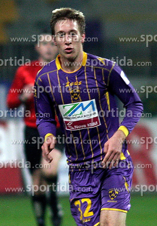 Robert Beric of Maribor  during the football match between NK Maribor and NK Domzale, played in the 18th Round of Prva liga football league 2010 - 2011, on November 20, 2010, at Stadium Ljudski vrt, Maribor, Slovenia.  (Photo by Marjan Kelner / Sportida)