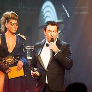 NLD/Amsterdam/20160321 - Edison Pop Awards 2016, Tino Martin wint de Award voor categorie Volksmuziek