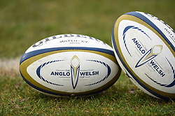 A general view of Anglo-Welsh Cup branded balls - Mandatory byline: Patrick Khachfe/JMP - 07966 386802 - 27/01/2018 - RUGBY UNION - The Recreation Ground - Bath, England - Bath Rugby v Newcastle Falcons - Anglo-Welsh Cup