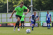 Forest Green Rovers Christian Doidge(9) takes a penalty during the Pre-Season Friendly match between Forest Green Rovers and Bristol Rovers at the New Lawn, Forest Green, United Kingdom on 21 July 2018. Picture by Shane Healey.