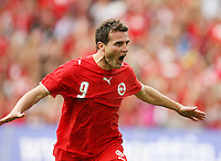 Fussball International Laenderspiel Schweiz - Venezuela JUBEL zum 1:0; Torschuetze Alexander Frei (SUI)