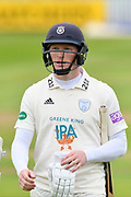 Tom Alsop of Hampshire during the opening day of the Specsavers County Champ Div 1 match between Somerset County Cricket Club and Hampshire County Cricket Club at the Cooper Associates County Ground, Taunton, United Kingdom on 11 May 2018. Picture by Graham Hunt.