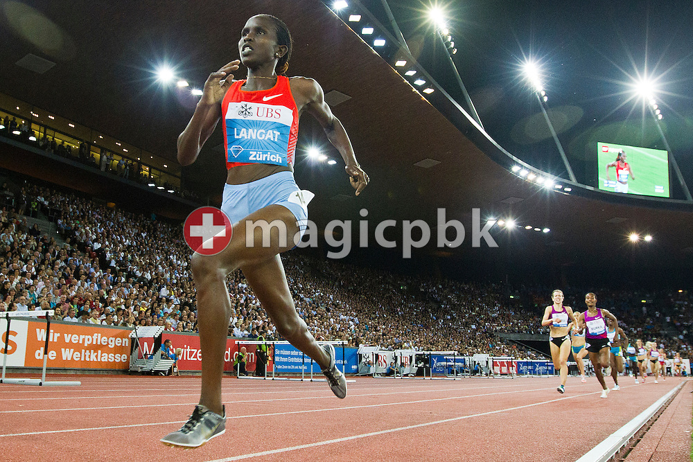 First placed Nancy Jebet LANGAT of Kenya competes in the women's 1500m during the IAAF Diamond League meeting at the Letzigrund Stadium in Zurich, Switzerland, Thursday, Aug. 19, 2010. (Photo by Patrick B. Kraemer / MAGICPBK)
