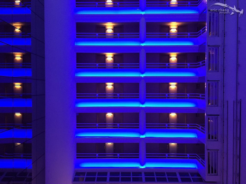 Blue hour at the hotel