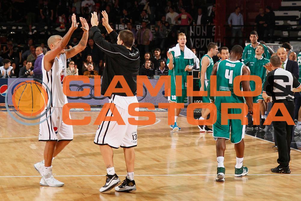 DESCRIZIONE : Caserta Lega A 2011-12 Pepsi Caserta Benetton Treviso<br /> GIOCATORE : Andre Smith Andrija Stepanovic<br /> SQUADRA : Benetton Treviso<br /> EVENTO : Campionato Lega A 2011-2012<br /> GARA : Pepsi Caserta Benetton Treviso<br /> DATA : 09/10/2011<br /> CATEGORIA : esultanza<br /> SPORT : Pallacanestro<br /> AUTORE : Agenzia Ciamillo-Castoria/A.De Lise<br /> Galleria : Lega Basket A 2011-2012<br /> Fotonotizia : Caserta Lega A 2011-2012 Pepsi Caserta Benetton Treviso<br /> Predefinita :