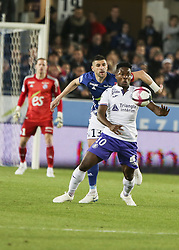 November 3, 2018 - Strasbourg, France - during the French Ligue 1 football match between Strasbourg (RCSA) and Toulouse (TFC) on November 3, 2018 at the Meinau stadium in Strasbourg, eastern France. (Credit Image: © Elyxandro Cegarra/NurPhoto via ZUMA Press)