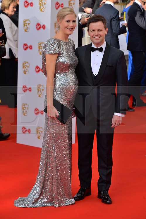 © Licensed to London News Pictures. 13/05/2018. London, UK. ALI ASTALL and DECLAN DONNELLY arrives for the Virgin TV British Academy (BAFTA) Television Awards. Photo credit: Ray Tang/LNP